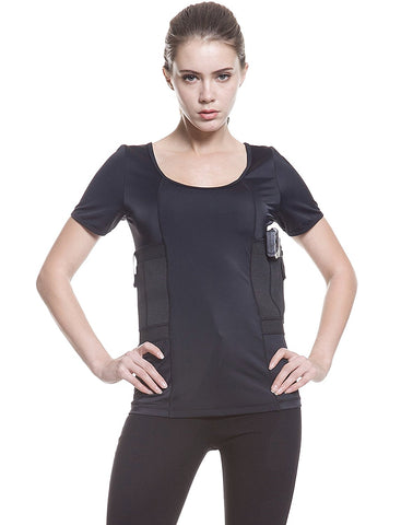 Graystone Holster Shirt Scoop Neck Concealed Carry Clothing For Women - Deep Concealment CCW