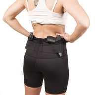 Graystone Gun Holster Shorts Compression Women's - Concealment Spandex CCW Clothing with Two Pockets
