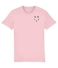 Load image into Gallery viewer, OMGRL Products Cotton Pink / XX-Small / Left chest FUCK YOU EMBROIDERED T-SHIRT Slogan Tee