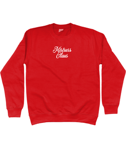 MISTRESS CLAUS EMBROIDERED CHRISTMAS SWEATSHIRT