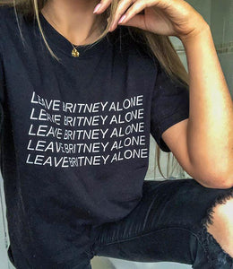 OMGRL Products LEAVE BRITNEY ALONE T-SHIRT Slogan Tee