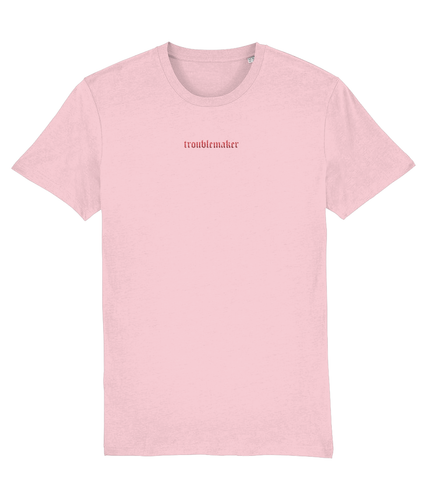 TROUBLEMAKER EMBROIDERED T-SHIRT