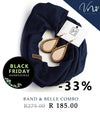 Band & Belle Kombinasie: Navy & Roosgoud