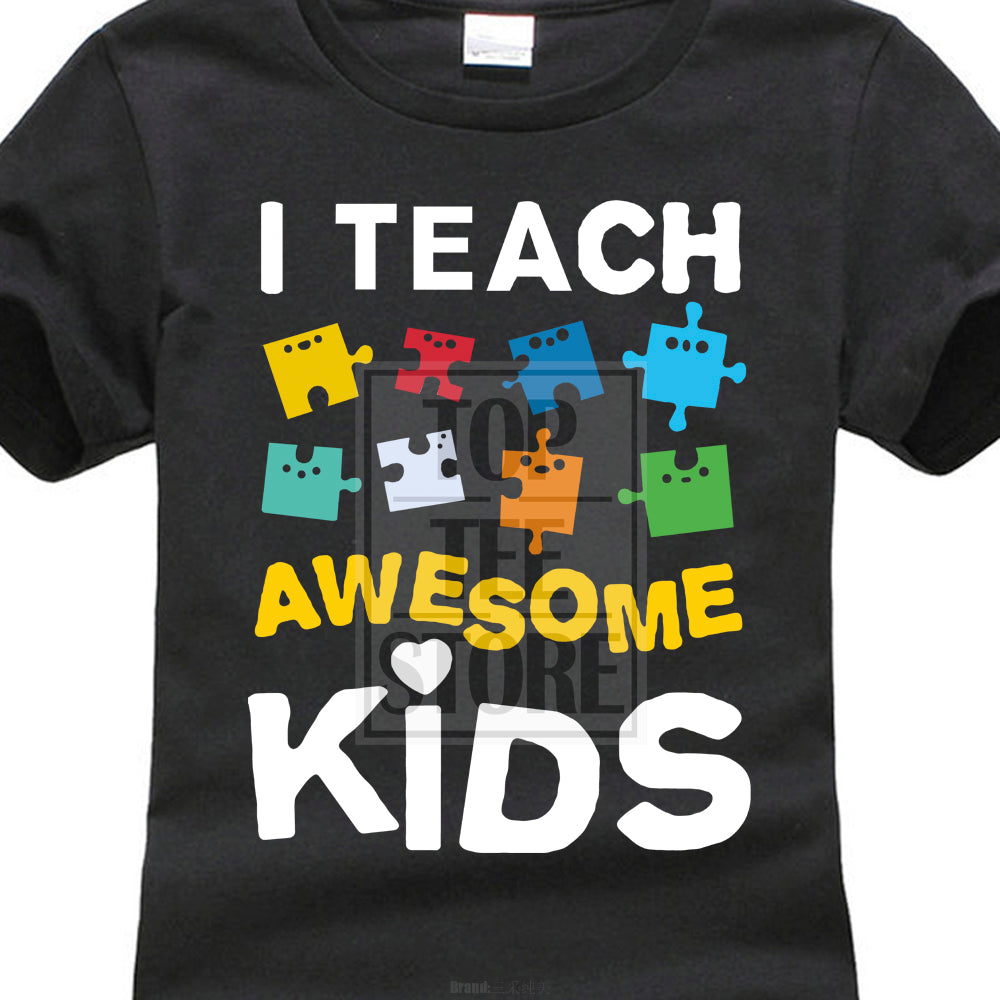 Teacher autism awareness shirt women