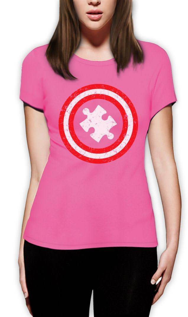 Capitan Autism Women autism awareness shirt