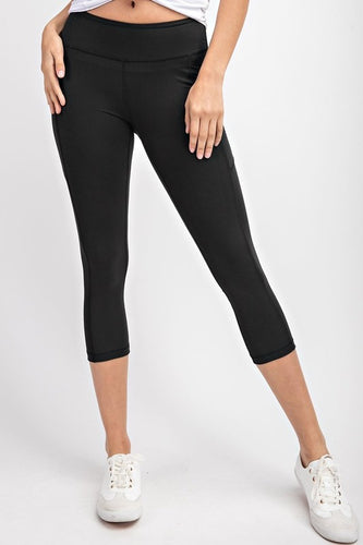 Capri yoga pants with pockets leggings