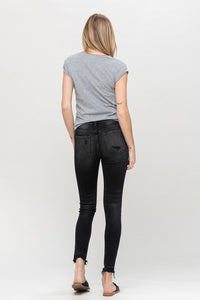 MID RISE DISTRESSED ANKLE SKINNY