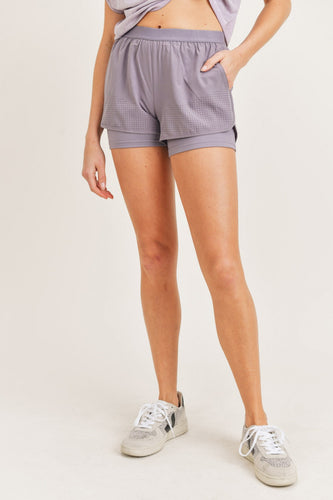 NIRVANA Perforated Active Short Shorts