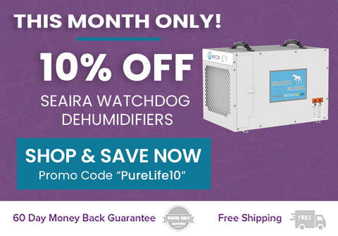 10% off Seaira Commercial Dehumidifiers