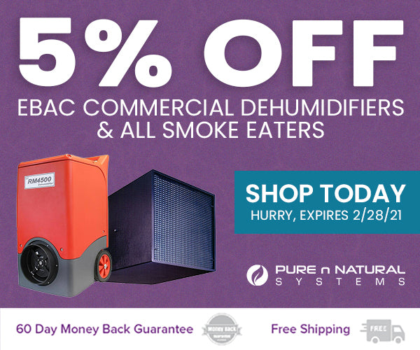 Save 5% On Ebac Commercial Dehumidifiers & All Smoke Eaters Listed Here