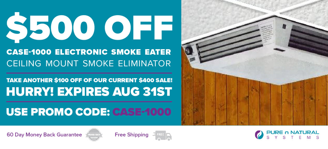 CASE-1000 Electronic Smoke Eater Ceiling Mount Promotion - $500 Off