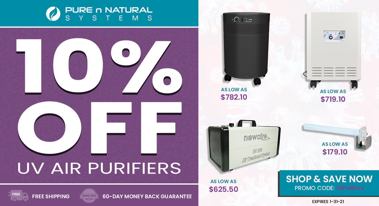 10% OFF UV Air Purifiers