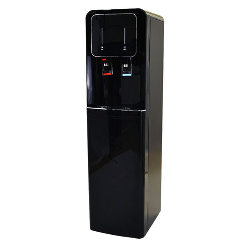 H2O-500 Hot and Cold Bottleless Water Dispenser with Push Lever Dispensing- Black