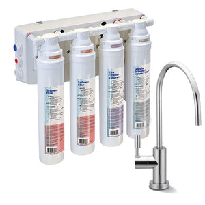 PURE QCUF Quick Connect 4-Stage Ultrafiltration Drinking Water Filter System with Designer Faucet