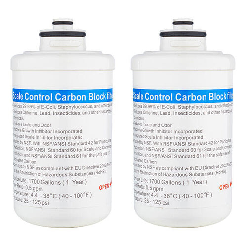 Replacement Dual Stage Carbon Filters for the H2O Smart Countertop Bottleless Water Cooler