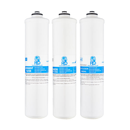 Replacement 3-Stage EZ-Twist Filter Pack - Bottleless Water Cooler Filters