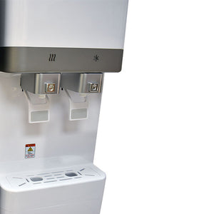 H2O-400 Hot and Cold Water Cooler Dispensing Area - White