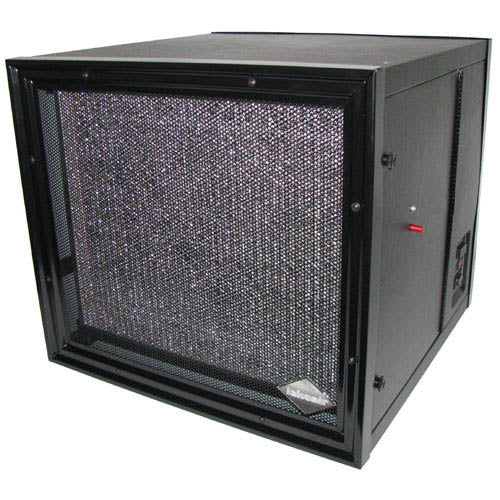LA-2000-MC Media and Carbon Surface Mount Air Cleaner for Dust and Smoke Removal - BLACK
