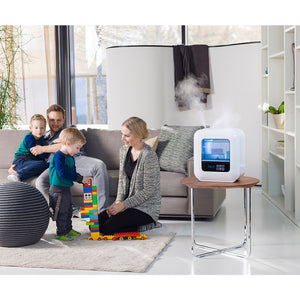 The BONECO U700 Cool or Warm Mist Humidifier will add moisture to any room or area up to 1,000 square feet.