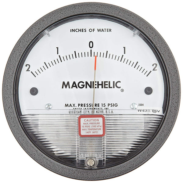 Magnehelic Pressure Gauge Indicates When Filters Should be Changed