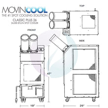 MovinCool Classic Plus 26 - 24,000 BTU Portable Spot Cooler