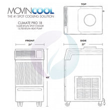 MovinCool Climate Pro 18 - 14,600 BTU Portable Spot Cooler & Heat Pump