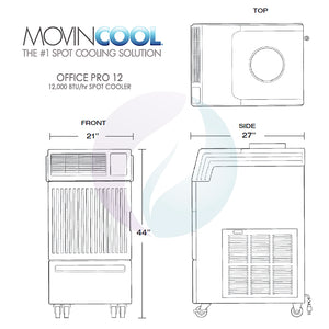 MovinCool Office Pro 12 - 12,000 BTU Portable Spot Cooler