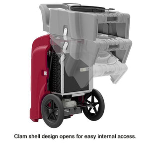 Storm ELITE High Capacity Restoration Dehumidifier has an Easy to Open Clamshell Cover