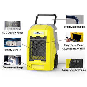 Storm PRO Restoration Dehumidifier Features