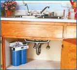 The PURE UV-2 Water Treatment System is easy to install and takes up little space under your kitchen sink!