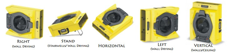 Zeus 900 Air Mover Provides Multiple Drying Positions