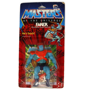 Vintage 1986 Mattel He-Man MOTU Masters Of The Universe Original Series Faker Action Figure Carded MOC Rare