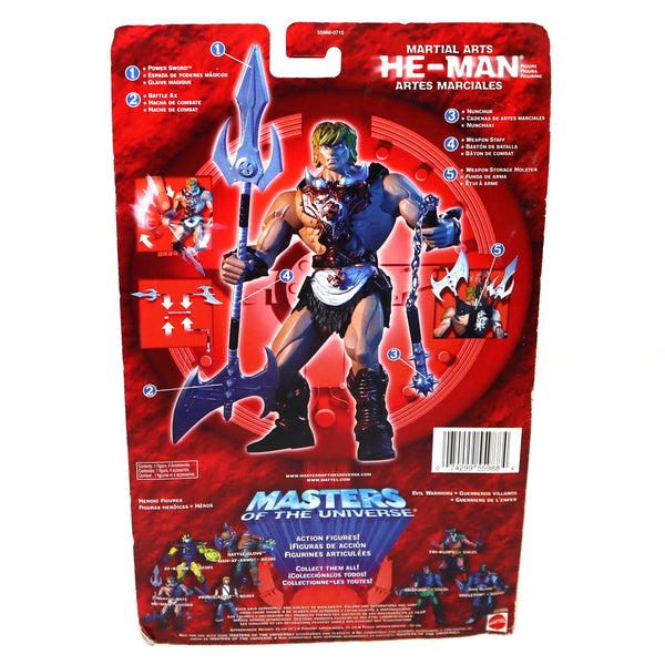 2002 Mattel He-Man MOTU Masters of the Universe Modern Series Martial Arts He-Man Action Figure Carded MOC