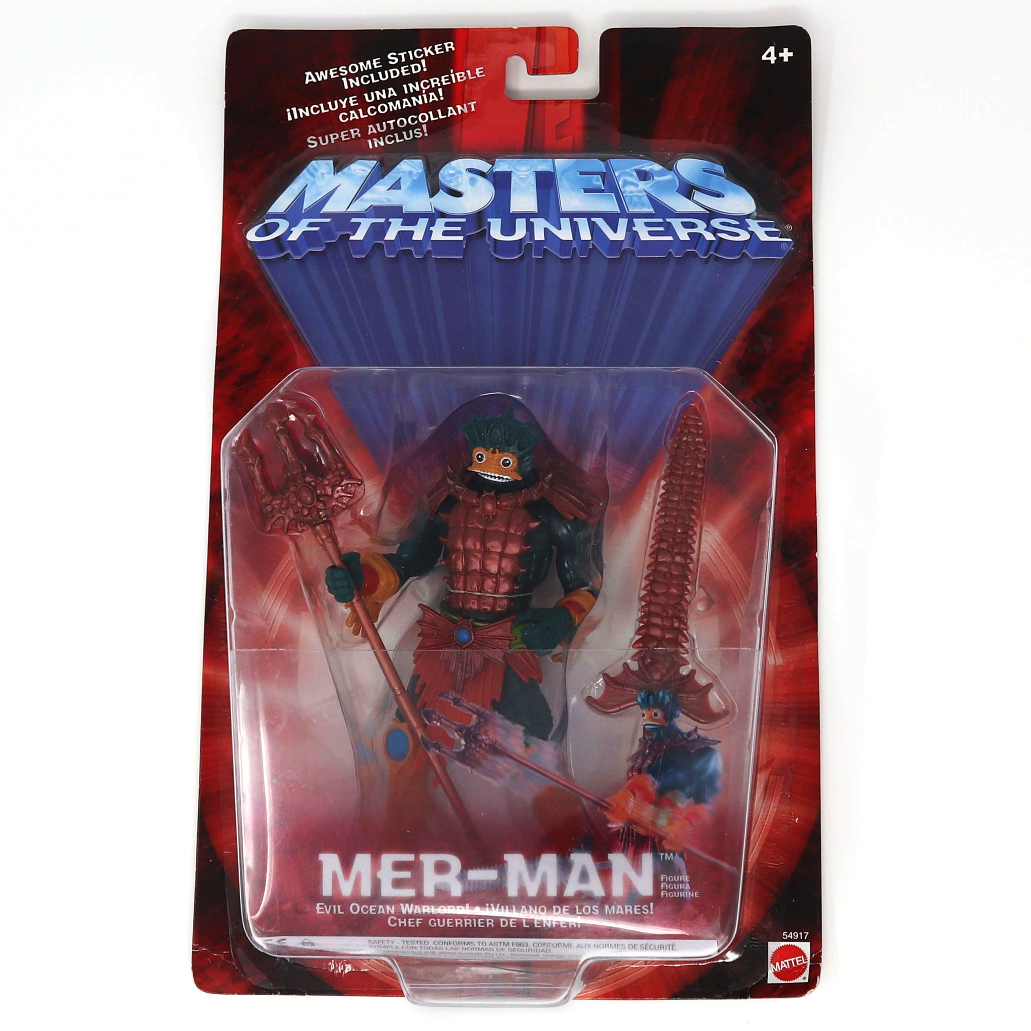 2002 Mattel He-Man MOTU Masters of the Universe Modern Series Mer-Man Action Figure Carded MOC