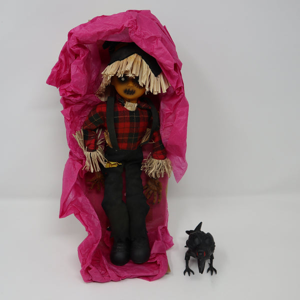 "2003 Mezco Toyz Living Dead Dolls Series 6 (666) Isaac Scarecrow 10"" Doll Near Complete Boxed Rare"