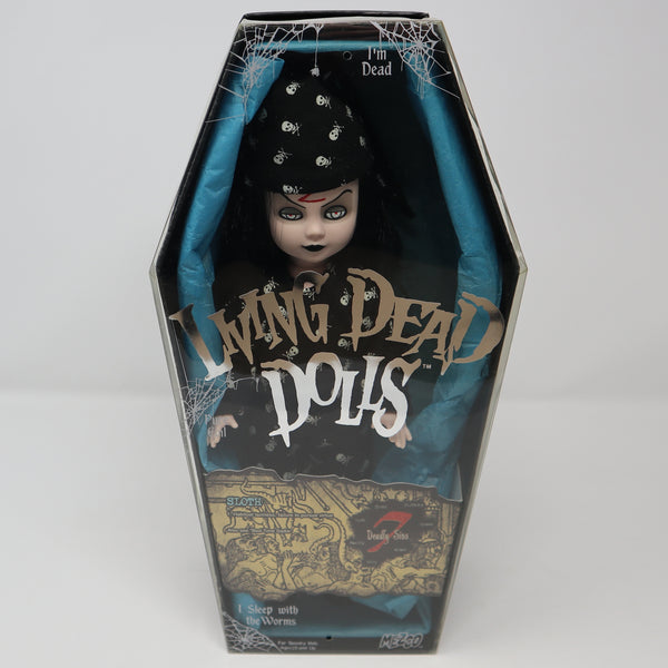 "2004 Mezco Toyz Living Dead Dolls Series 7 Seven Deadly Sins Sloth (Bed Time Sadie) 10"" Doll Complete Boxed Rare"