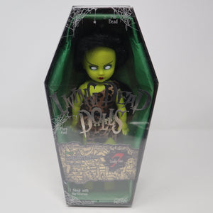 "2004 Mezco Toyz Living Dead Dolls Series 7 Seven Deadly Sins Envy (Eve-A-Go-Go) 10"" Doll Complete Boxed Sealed Rare"