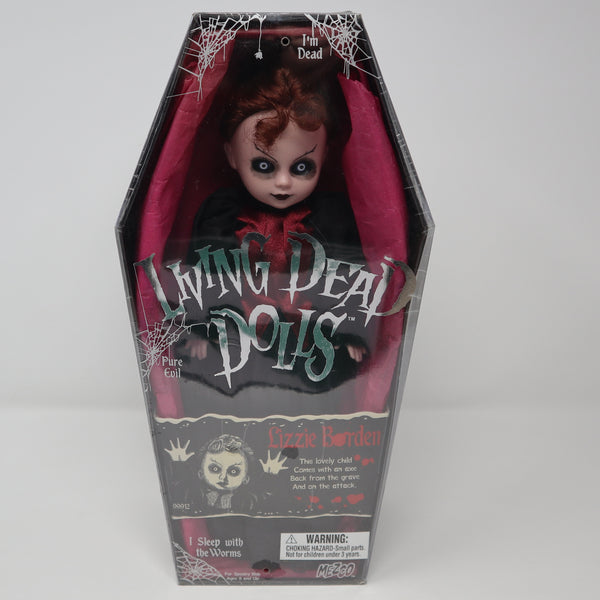 "Vintage 2001 Mezco Toyz Living Dead Dolls Series 2 Lizzie Bordin 10"" Doll Complete Boxed Sealed Rare"