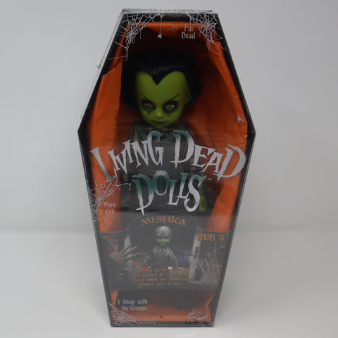 "2008 Mezco Toyz Living Dead Dolls Series 16 Mishka Halloween 10"" Doll Complete Boxed Sealed Rare"