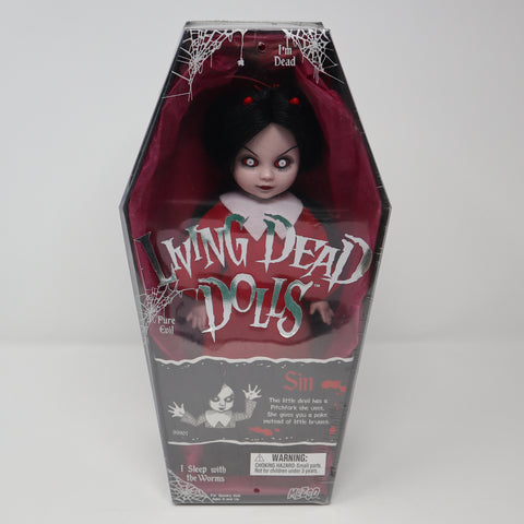 "Vintage 2001 Mezco Toyz Living Dead Dolls Series 1 Sin 10"" Doll Complete Boxed Sealed Rare"