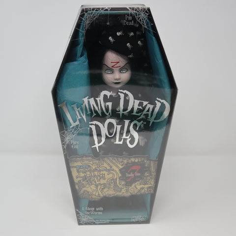 "2004 Mezco Toyz Living Dead Dolls Series 7 Seven Deadly Sins Sloth (Bed Time Sadie) 10"" Doll Complete Boxed Sealed Rare"