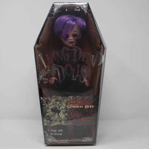 "2009 Mezco Toyz Living Dead Dolls Series 17 Urban Legends Spider Bite 10"" Doll Complete Boxed Sealed Rare"