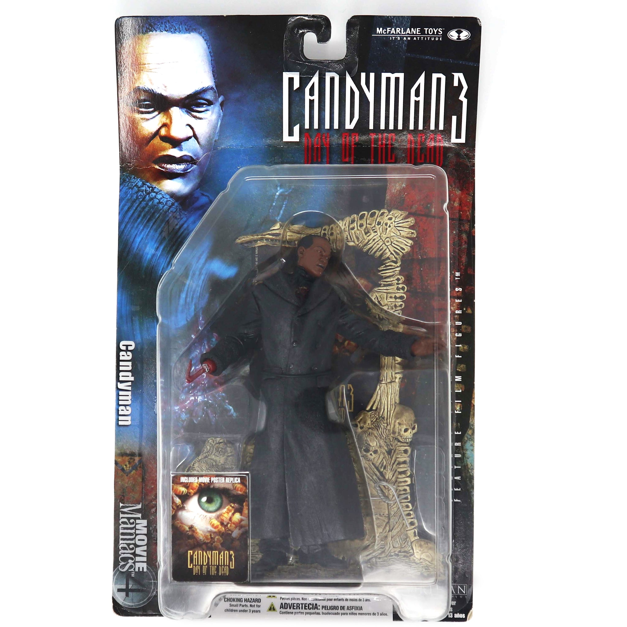 "Vintage 2001 McFarlane Toys Movie Maniacs 4 Candyman 3 Day Of The Dead 7"" Feature Film Action Figure MOC Carded"