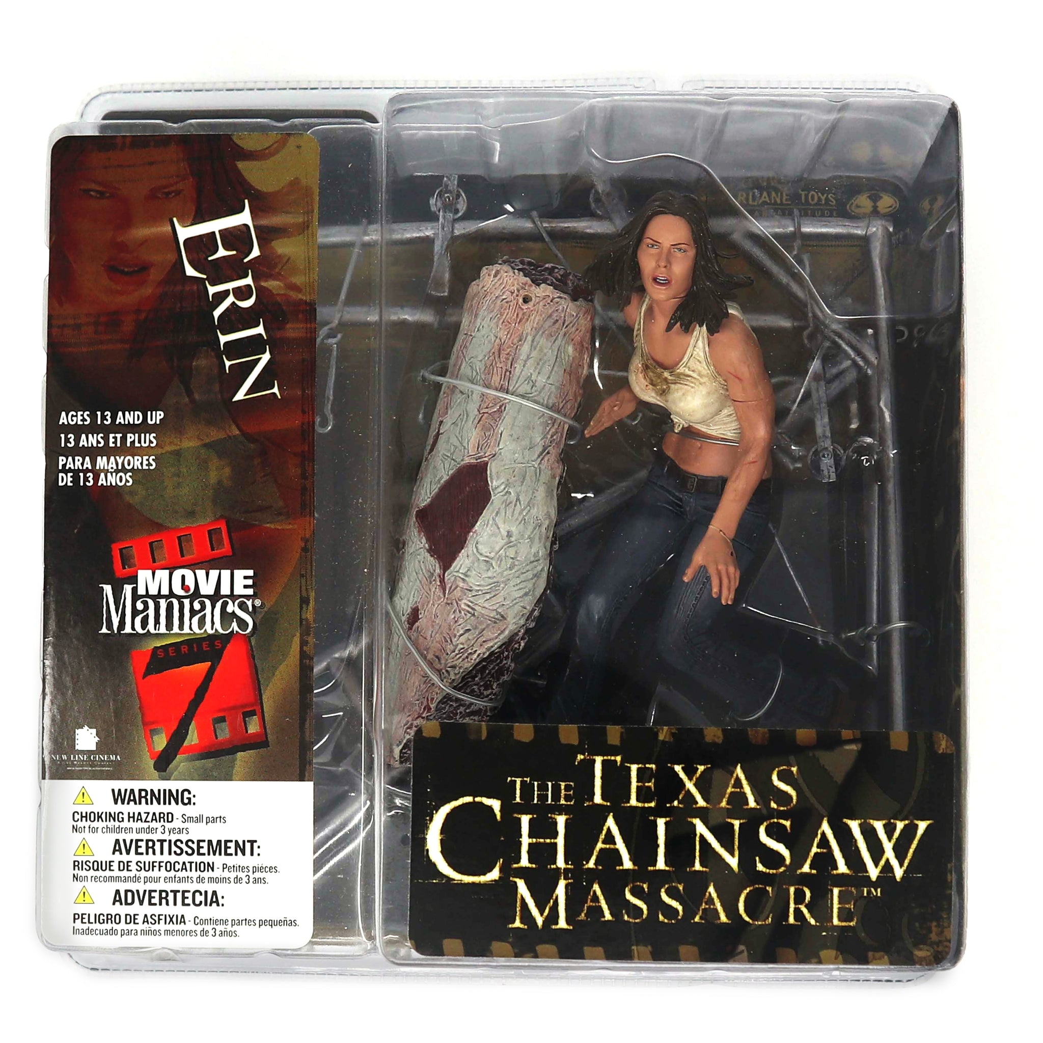 "2004 McFarlane Toys Movie Maniacs Series 7 The Texas Chainsaw Massacre Erin 5.5"" Figure MOC Carded Rare"