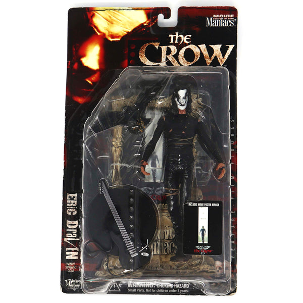 Vintage 1999 Movie Maniacs Series 2 The Crow Eric Draven Figure Carded MOC Rare (Brandon Lee)