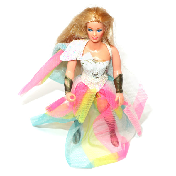Vintage 1984 80s Mattel She-Ra (Shera) Princess of Power Action Figure + Colorful Secret Fantastic Fashions Outfit Rare