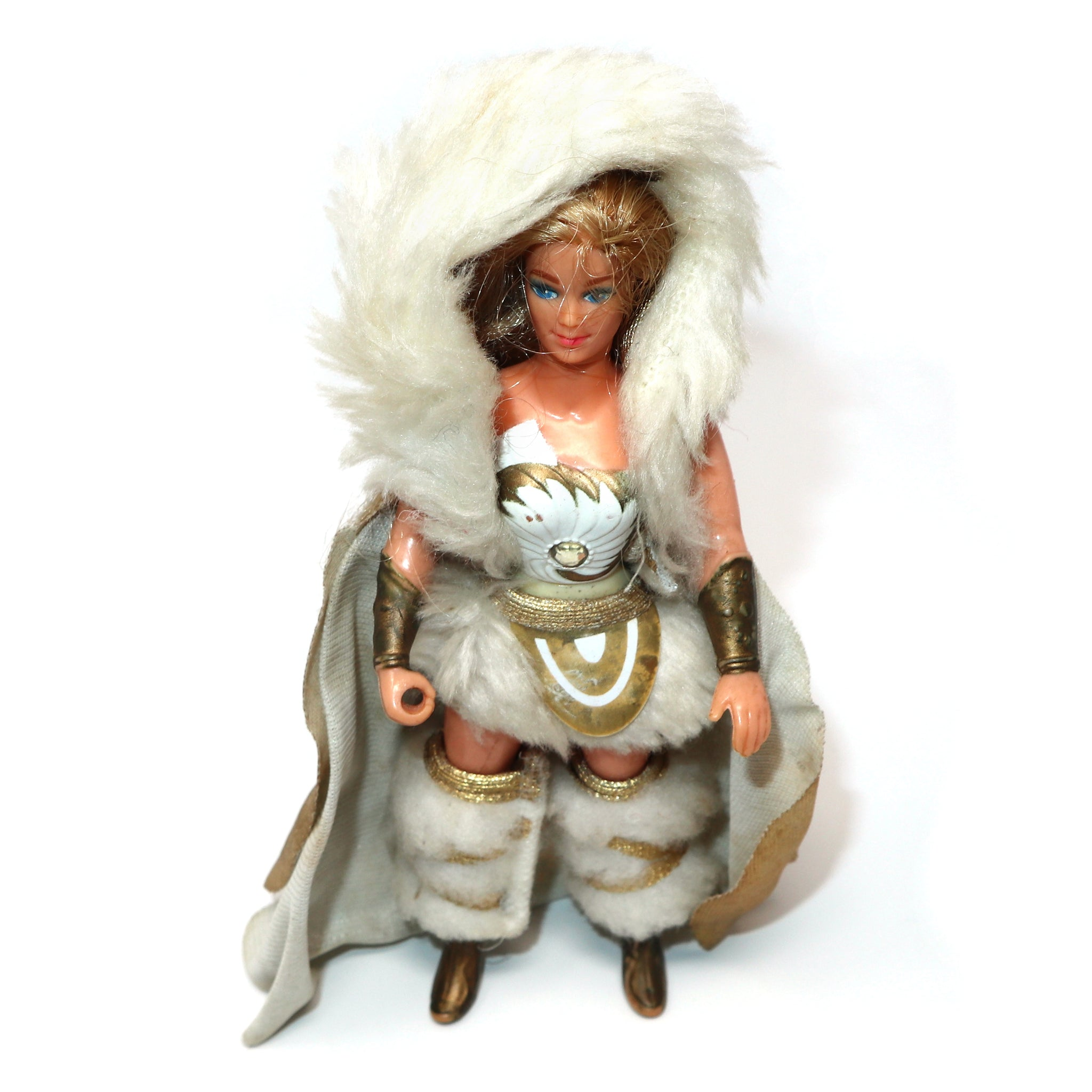 Vintage 1984 80s Mattel She-Ra (Shera) Princess of Power Action Figure + Frosty Fur Fantastic Fashions Outfit Rare