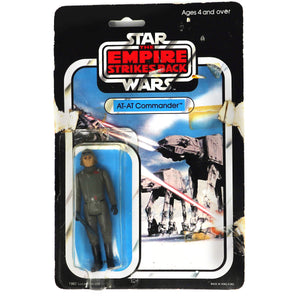 Vintage 1982 80s Palitoy Star Wars The Empire Strikes Back AT-AT Commander Action Figure Carded MOC (Opened & Resealed)