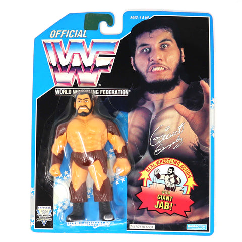 Vintage 1994 90s Hasbro WWF Wrestling Series 10 Giant Gonzalez With Giant Jab! Action Figure MOC Carded Rare
