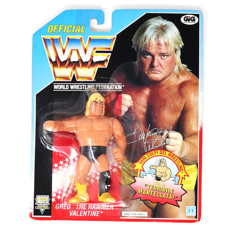 "Vintage 1992 90s Hasbro WWF Wrestling Series 3 Greg ""The Hammer"" Valentine Action Figure Carded MOC"